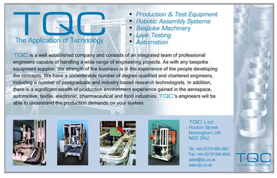 production and test machines from tqc