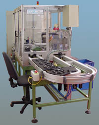 platen assembly and test system for automatic assembly of metal parts